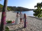 We can arrange weddings on Honeymoon Beach