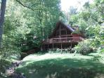 Enjoy privacy in wooded seclusion. (Owl's Hoot in the summer)