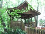 Our pavilion is like a tree house for adults.