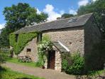 Barn Cottage entrance and parking