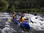 Local white water rafting and canoeing