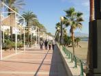 Go Spanish! Take a stroll along the Paseo Maritimo