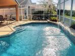 South facing 30ft swimming pool gets sun all day