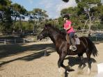 Horse Riding is available on the Resort, set in the stunning hillside at the back of Aphrodite Hills