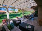 Stunning tiled patio -- 40 x 13 extra living space!