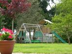 Playset in garden