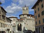 The town of Castelnuovo di Garfagnana