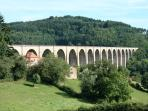 The impressive viaduct at Mussy-sous-dun