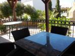 sitting area in terrace balcony
