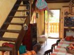 Il soggiorno e la zona pranzo