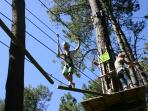 Vivions Perchés, 'Go Ape' activity centre at Pleumeur Bodou