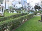 vista a jardin desde el Bungalow