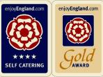 4 Star Gold Award - Accredited by Visit England