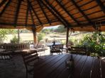 Lapa with view over waterhole, relaxed game watching