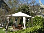 April 2014 - Stunning weather so Gazebo up and ready for BBQs and soirees!