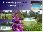 Swimming pool onsite with shower block