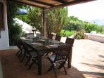 Dining table on terrace