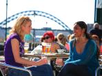 Enjoy lunch on the Quayside with friends