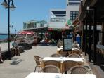 Shops/restaurants on prom in Playa Blanca