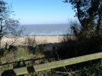 Beach and sea from Kingsdown Holiday Park