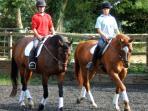 A riding lesson