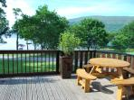 Fully enclosed gated deck area
