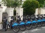 boris bikes - nearest docking station is in next door street
