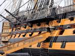 HMS Victory.  Nelson's flagship at the battle of Trafalgar