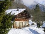 The farmhouse in winter