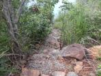 Path to the private beach