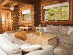 Le salon et ses deux canapés.. Contemporary living room, 2 sofas, HD TV