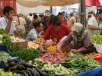 The colourful Thursday market in Yalikavak
