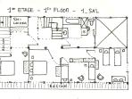 Blueprint of the 1st floor