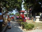 Children playground in the center of the town.