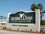 Entrance to Southern Dunes Golfing Resort