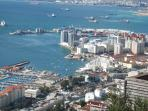Views of Jibraltar Marina from top of rock (daily trips from Benalmadena)