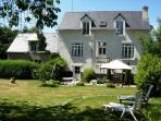 The 4 bedroom property & neighbouring 1 bed house - separated by walls and hedges