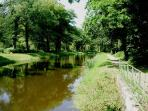The nearby Nantes-Brest canal offers shaded walking and cycling