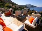 Relax, dine and take in the staggering views from Ada Manzara's fully furnished roof terrace