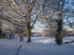 Winter Scene from Hobbits Hideaway