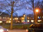 Glossop town centre: View of main square from town hall