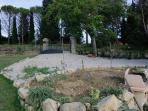 Barbecue e giardino