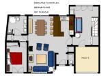 Floor Plan: Ground floor of our Laroque holiday villa