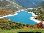 Lake Fiastra for walks, swimming and fishing