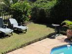 Enclosed established garden