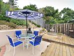 private backyard entertainment deck with pergola and high end propane barbecue with warming oven