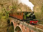 Talyllyn railway is just a 10 min walk