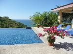 one of two infinity pools on site