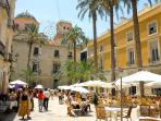 Nearby Plaza de Santa Faz - full of cafes, bars and restaurants