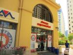 Supermarket in same building